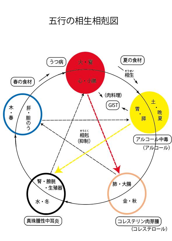 五行の相生相克ー話題の症状43'
